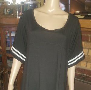 Size 3X, Pink Rose brand, black dress.